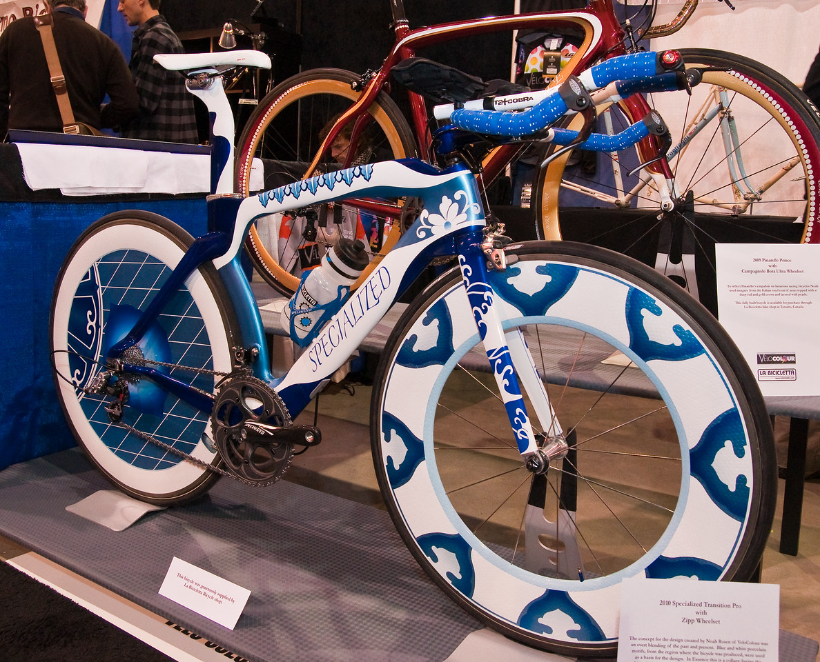 """North American Handmade Bicycle Show-00186.  Custom paint specialist Velocolor came to visit from Up North.<br />   <a href=""""http://www.velocolour.com/"""">http://www.velocolour.com/</a>"""