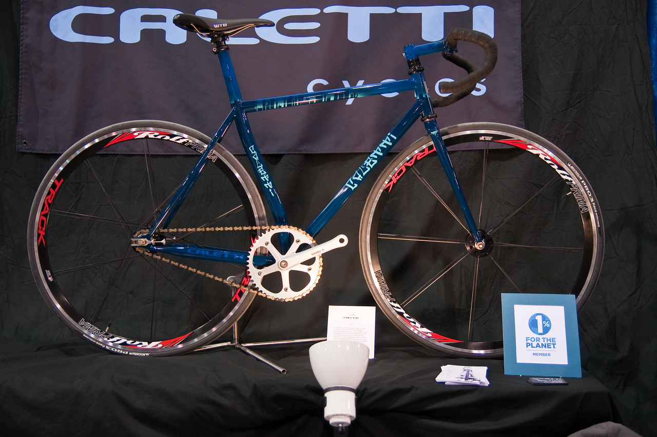 """North American Handmade Bicycle Show-00192.  Caletti Bicycles.  Check out the next image for the incredible detail on the paint.<br /> <br /> <a href=""""http://www.caletticycles.com/"""">http://www.caletticycles.com/</a>"""