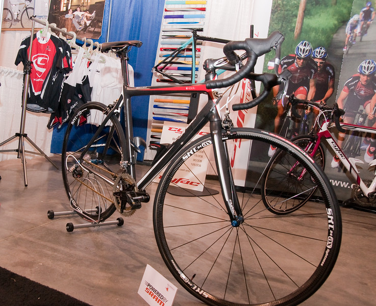 "North American Handmade Bicycle Show-00161. Calfee Design custom carbon drool machine. <br />  <a href=""http://www.calfeedesign.com/"">http://www.calfeedesign.com/</a>"