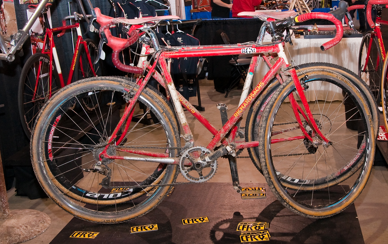 North American Handmade Bicycle Show-00185.  Slightly used Team Sachs bikes from the CX season.