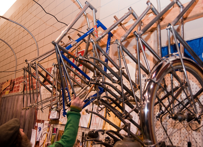 "North American Handmade Bicycle Show-00173.  Bilenky Bike works from Philadelphia   <br /> <a href=""http://www.bilenky.com"">http://www.bilenky.com</a>"