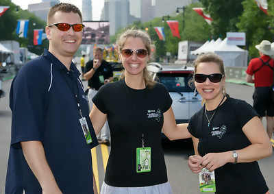 A few of the volunteers at the TD Bank Philadelphia Cycling Classic