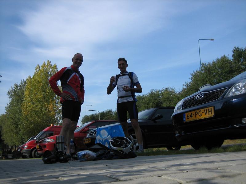 "Elsloo Limburg, start place ""Mergellandroute"" with Andre van der Burg (Start place ""Marleland route"" 19 Sept 2008)"