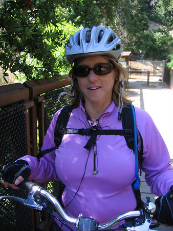 Bicycle riding on the cross marin trail 6/2009