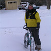 Merry Christmas, icebiking on Christmas morning, 22 F, 2in fresh snow 10am Pict8212