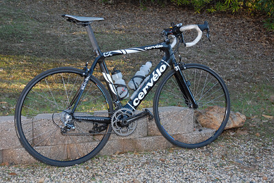 2008 Cervelo SLC SL with Campy Record.  It's all of 15lbs without water, etc.