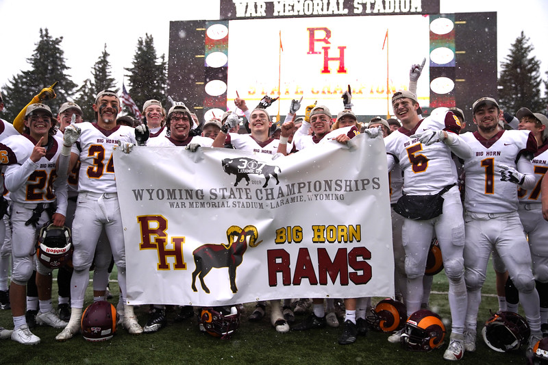 Matthew Gaston   The Sheridan Press<br>The Sheridan Press is proud to present your 2019 Wyoming 1A State Champions the Big Horn Rams Saturday, Nov. 16, 2019.
