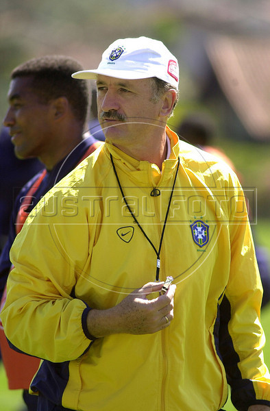 National Soccer team manager Luiz Felipe Scolari during training(Australfoto/Douglas Engle)