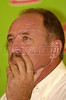 Brazilian soccer team manager Luiz Felipe Scolari appears during a press conference.(Australfoto/Douglas Engle)