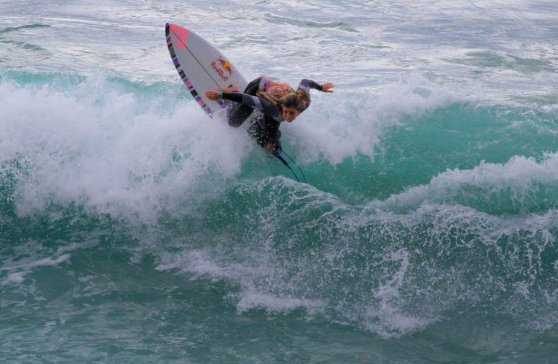 Several women were out there shredding with the best of them.