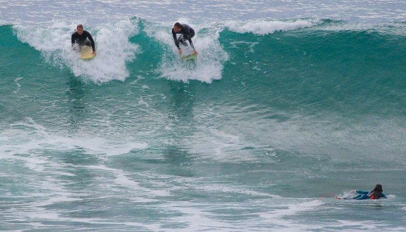 It helps to have a prone surfer in the photo at the bottom of a wave to understand the true size if it.
