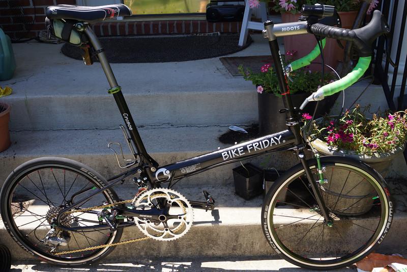 Bike Friday Crusoe sport bike configuration; 21.1lb kerb weight.