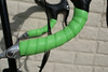 Close up detail of Lizardskins handlebar tape wrap.