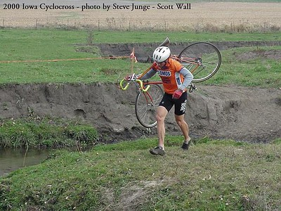 Scott Wall at the 2000 State Cyclocross Championships in Cedar Rapids, IA.