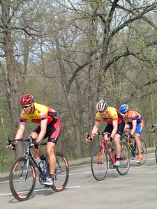 Masters 40-49, Eagle Point Criterium, Dubuque, IA Greg Harper (center) & Scott Wall (right)