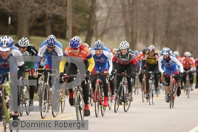 Scott Wall on his winning the sprint in the Masters 40-49 at Altoona, IA. We were mixed in with the 50-59 and the 4's.