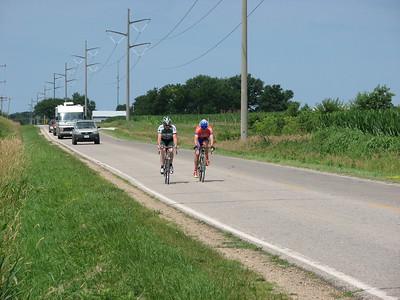 Kurt Hantleman & Scott Wall finishing the Road Race in Boone, IA - photo by DMCC