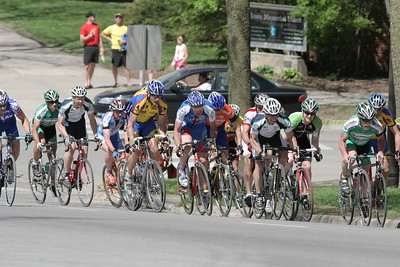 Masters 40+ & 50+ on the climb - photo posted by Iowa City Cycling Club
