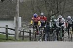 Scott Wall leads the Masters 40-49 & 50+ up the hill in Des Moines, IA. - photo by DMCC?