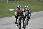 Scott Wall and Tom Eaton approach the start/finish in Des Moines, IA. - photo by DMCC?