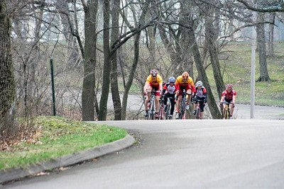 Tom Eaton & Randy Jones in the 40+ field - photo by Chain Reaction Bicycle Club