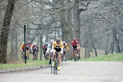 Bill Ford leads the 40+ field - photo by Chain Reaction Bicycle Club