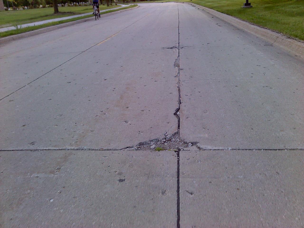 North Loop Drive divots