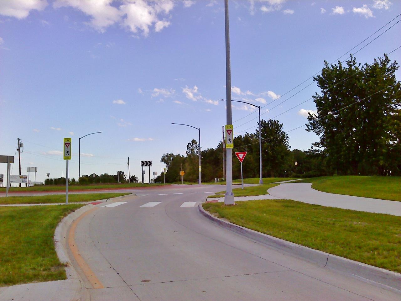 University Boulevard & Collaboration Place - south roundabout