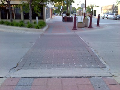 Main Street between Clark & Burnett Avenues - perpendicular cracks