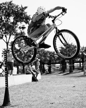 "Alternate Processing: Kodak BW CN Curve - Borys Zagrocki - expressivebikes.com bike trials demo team - Active Outdoors Expo - Queensland Outdoor Recreation Federation, Manly, Brisbane, Queensland, Australia; Saturday 1 October 2011. Photos by Des Thureson:  <a href=""http://disci.smugmug.com"">http://disci.smugmug.com</a>"