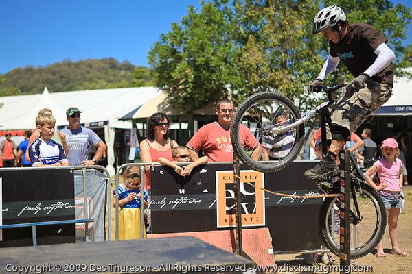 Bike Trials demonstration by Expressivebikes.com - Noosa Triathlon Multi Sport Festival, Queensland, Australia, 31 October 2009.
