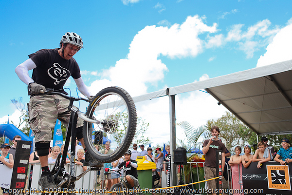 Bike Trials demonstration by Expressivebikes.com - Noosa Triathlon Multi Sport Festival, Queensland, Australia, 31 October 2009.