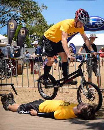 ExpressiveBikes Bike Trials Stunt Team at the 2013 Noosa Triathlon Multi Sport Festival. Main Portfolio Gallery.