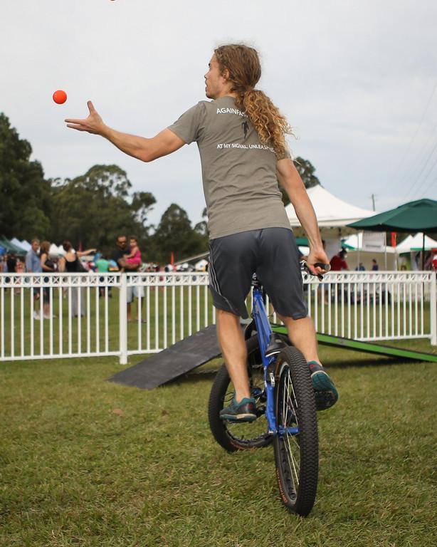 Jack Mullaly - 2015 Expressivebikes.com Bike Trials Stunt Team at the Green Heart Fair, Brisbane, Queensland, Australia; Sunday 31 May 2015. Photos by Des Thureson.