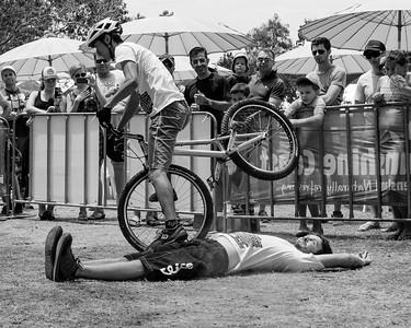 Alternate Processing, Stark Raging Black - Le Hua - 2012 Expressivebikes.com Bike Trials Demo Team at the Noosa Triathlon Multi Sport Festival, Noosa Heads, Sunshine Coast, Queensland, Australia. Camera 2. Photos by Des Thureson.