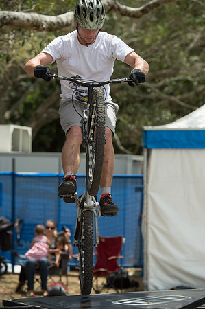 Expressive Bikes Bike Trials Demo Team at the Noosa Triathlon Festival Expo. Saturday 3 November 2012. Photos by Des Thureson