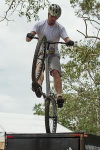 Lewis Greenhalgh - 2012 Expressivebikes.com Bike Trials Demo Team at the Noosa Triathlon Multi Sport Festival, Noosa Heads, Sunshine Coast, Queensland, Australia. Camera 1. Photos by Des Thureson.