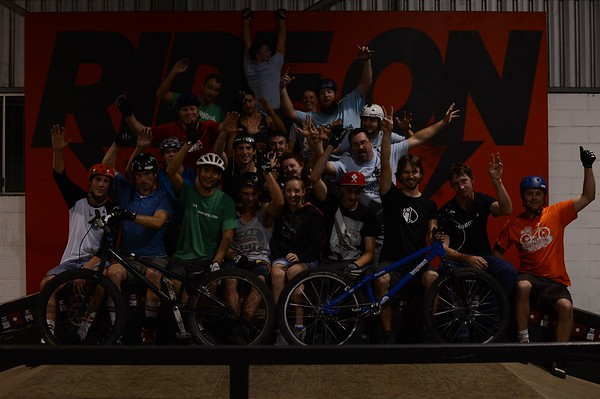 """(Taken in raw format and can be brightened considerably) - ExpressiveBikes - Inspired Bike Trials Expression Session 2013; Ride On Indoor Park, Coopers Plains, Brisbane, Queensland, Australia; 31 August 2013. Camera 1, Photos by Des Thureson - <a href=""""http://disci.smugmug.com"""">http://disci.smugmug.com</a>."""
