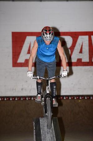 """ExpressiveBikes - Inspired Bike Trials Expression Session 2013; Ride On Indoor Park, Coopers Plains, Brisbane, Queensland, Australia; 31 August 2013. Camera 1, Photos by Des Thureson - <a href=""""http://disci.smugmug.com"""">http://disci.smugmug.com</a>."""