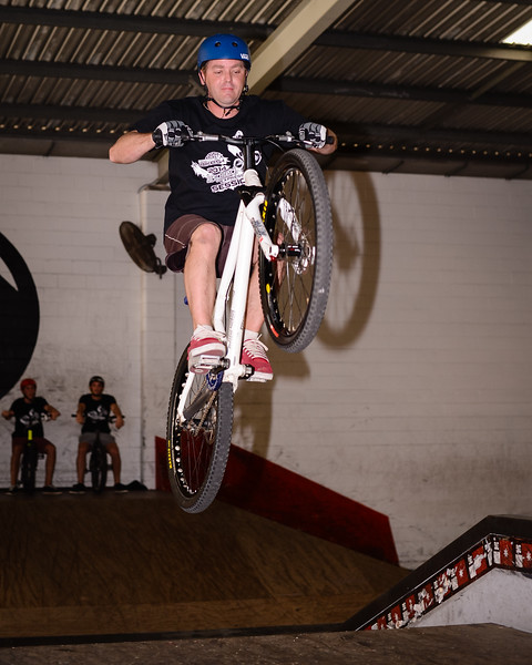 "Ben Croft - ExpressiveBikes - Inspired Bike Trials Expression Session 2014; Ride On Indoor Park, Coopers Plains, Brisbane, Queensland, Australia; 30 August 2014. Camera 1, Photos by Des Thureson - <a href=""http://disci.smugmug.com"">http://disci.smugmug.com</a>."