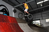 "Joel Nelson - ExpressiveBikes - Inspired Bike Trials Expression Session 2014; Ride On Indoor Park, Coopers Plains, Brisbane, Queensland, Australia; 30 August 2014. Camera 2, Photos by Des Thureson - <a href=""http://disci.smugmug.com"">http://disci.smugmug.com</a>."