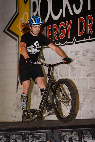 """Jack Mullaly - ExpressiveBikes - Inspired Bike Trials Expression Session 2014; Ride On Indoor Park, Coopers Plains, Brisbane, Queensland, Australia; 30 August 2014. Camera 1, Photos by Des Thureson - <a href=""""http://disci.smugmug.com"""">http://disci.smugmug.com</a>."""