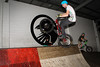 """Kyle Rolands - ExpressiveBikes - Inspired Bike Trials Expression Session 2014; Ride On Indoor Park, Coopers Plains, Brisbane, Queensland, Australia; 30 August 2014. Camera 2, Photos by Des Thureson - <a href=""""http://disci.smugmug.com"""">http://disci.smugmug.com</a>."""