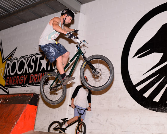 """Joel Nelson - ExpressiveBikes - Inspired Bike Trials Expression Session 2013; Ride On Indoor Park, Coopers Plains, Brisbane, Queensland, Australia; 31 August 2013. Camera 1, Photos by Des Thureson - <a href=""""http://disci.smugmug.com"""">http://disci.smugmug.com</a>."""