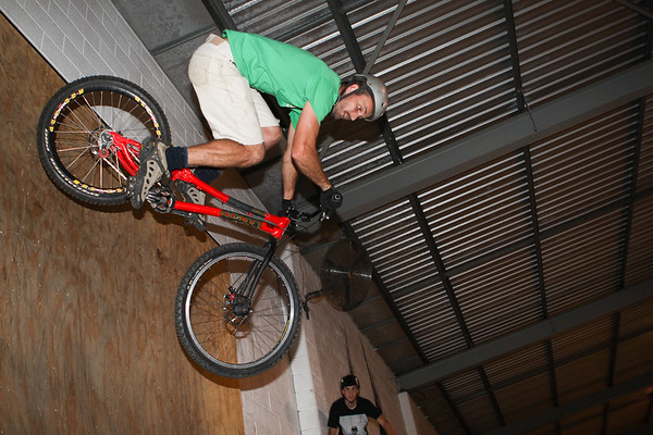 "Adrian Turmine - ExpressiveBikes - Inspired Bike Trials Expression Session 2013; Ride On Indoor Park, Coopers Plains, Brisbane, Queensland, Australia; 31 August 2013. Camera 2, Photos by Des Thureson - <a href=""http://disci.smugmug.com"">http://disci.smugmug.com</a>."