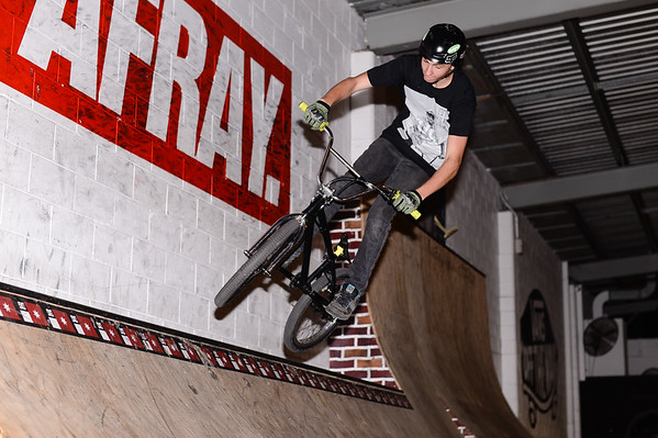 """Kyle Rolands - ExpressiveBikes - Inspired Bike Trials Expression Session 2013; Ride On Indoor Park, Coopers Plains, Brisbane, Queensland, Australia; 31 August 2013. Camera 1, Photos by Des Thureson - <a href=""""http://disci.smugmug.com"""">http://disci.smugmug.com</a>."""