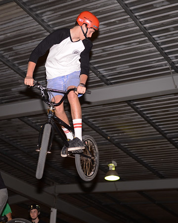 """Levi Cox - - ExpressiveBikes - Inspired Bike Trials Expression Session 2013; Ride On Indoor Park, Coopers Plains, Brisbane, Queensland, Australia; 31 August 2013. Camera 1, Photos by Des Thureson - <a href=""""http://disci.smugmug.com"""">http://disci.smugmug.com</a>."""