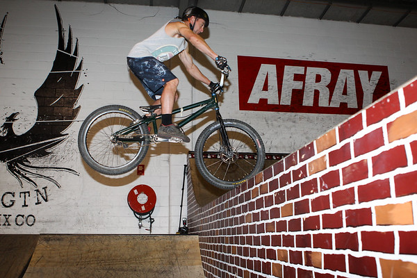 """Joel Nelson - ExpressiveBikes - Inspired Bike Trials Expression Session 2013; Ride On Indoor Park, Coopers Plains, Brisbane, Queensland, Australia; 31 August 2013. Camera 2, Photos by Des Thureson - <a href=""""http://disci.smugmug.com"""">http://disci.smugmug.com</a>."""