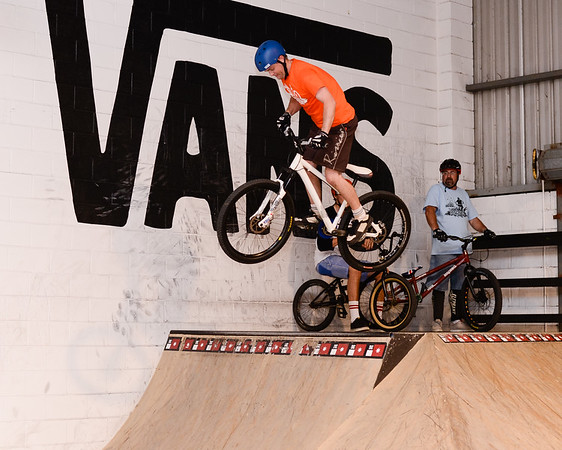 "Ben Croft - ExpressiveBikes - Inspired Bike Trials Expression Session 2013; Ride On Indoor Park, Coopers Plains, Brisbane, Queensland, Australia; 31 August 2013. Camera 1, Photos by Des Thureson - <a href=""http://disci.smugmug.com"">http://disci.smugmug.com</a>."