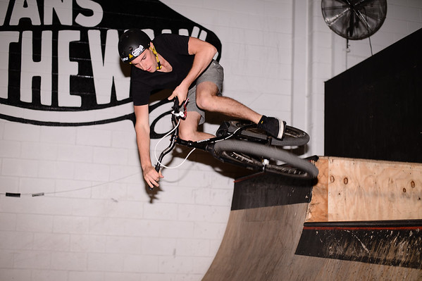 """Kaleb Cox - ExpressiveBikes - Inspired Bike Trials Expression Session 2013; Ride On Indoor Park, Coopers Plains, Brisbane, Queensland, Australia; 31 August 2013. Camera 1, Photos by Des Thureson - <a href=""""http://disci.smugmug.com"""">http://disci.smugmug.com</a>."""